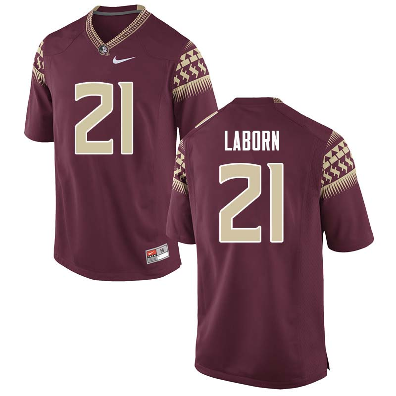 Men #21 Khalan Laborn Florida State Seminoles College Football Jerseys Sale-Garnet