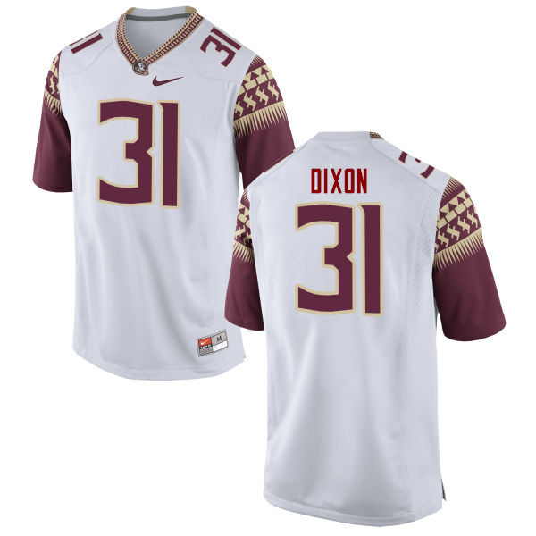 Men #31 Kris Dixon Florida State Seminoles College Football Jerseys-White