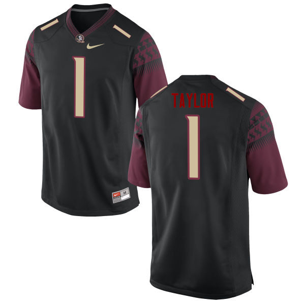 Men #1 Levonta Taylor Florida State Seminoles College Football Jerseys-Black