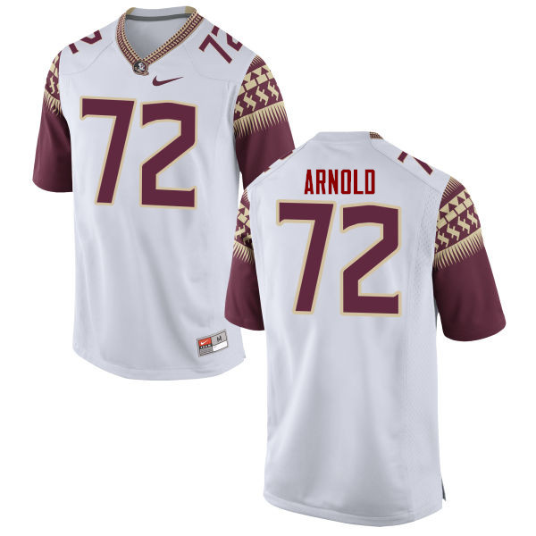 Men #72 Mike Arnold Florida State Seminoles College Football Jerseys-White