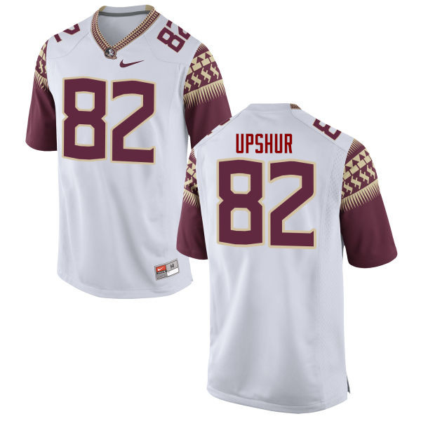 Men #82 Naseir Upshur Florida State Seminoles College Football Jerseys-White