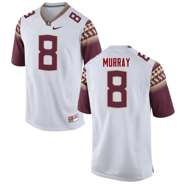Men #8 Nyqwan Murray Florida State Seminoles College Football Jerseys-White