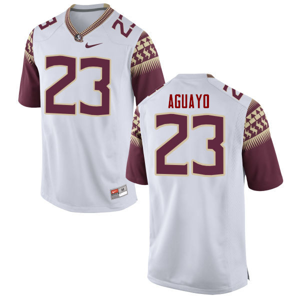 Men #23 Ricky Aguayo Florida State Seminoles College Football Jerseys-White
