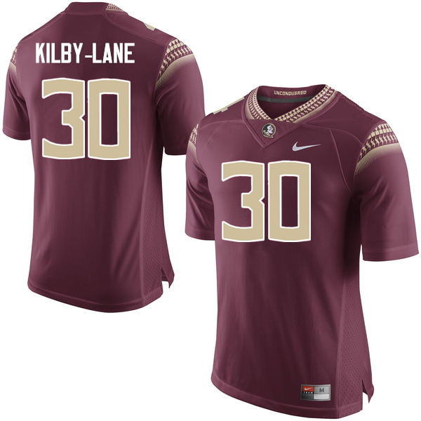 Men #30 ShMar Kilby-Lane Florida State Seminoles College Football Jerseys-Garnet