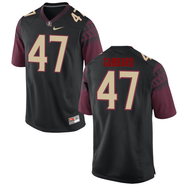 Men #47 Stephen Gabbard Florida State Seminoles College Football Jerseys-Black