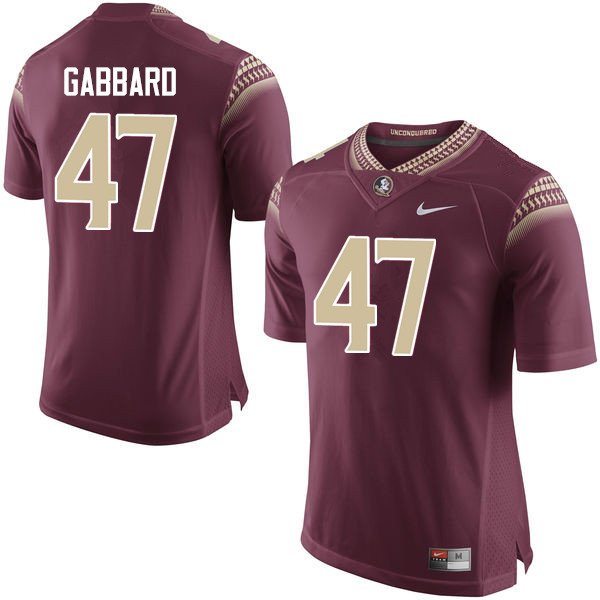 Men #47 Stephen Gabbard Florida State Seminoles College Football Jerseys-Garnet