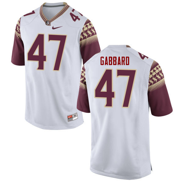 Men #47 Stephen Gabbard Florida State Seminoles College Football Jerseys-White