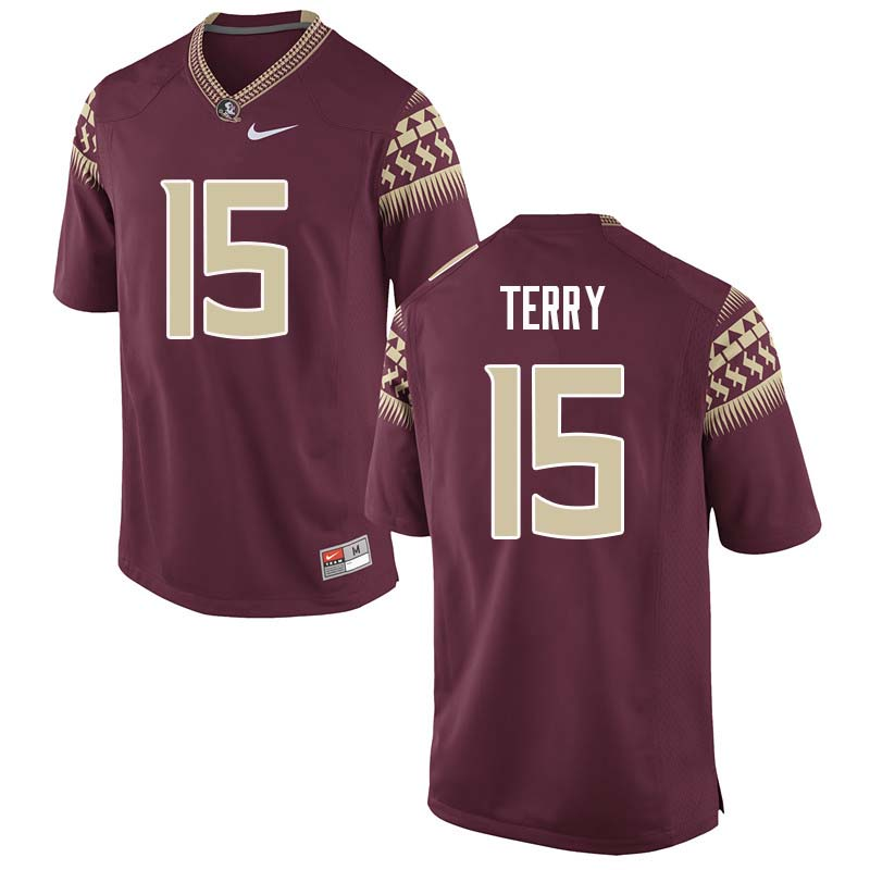 Men #15 Tamorrion Terry Florida State Seminoles College Football Jerseys Sale-Garnet