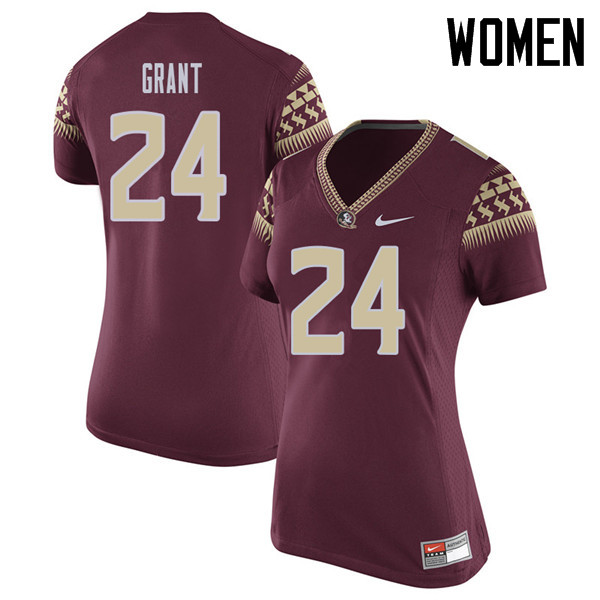 Women #24 Anthony Grant Florida State Seminoles College Football Jerseys Sale-Garent