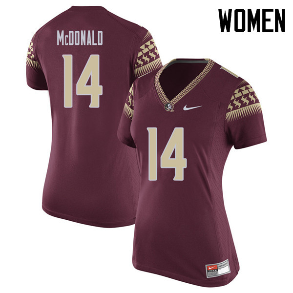 Women #14 Nolan Mcdonald Florida State Seminoles College Football Jerseys Sale-Garent