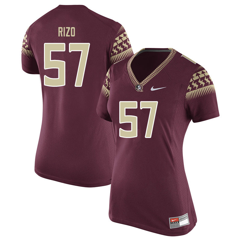 Women #57 Axel Rizo Florida State Seminoles College Football Jerseys Sale-Garent