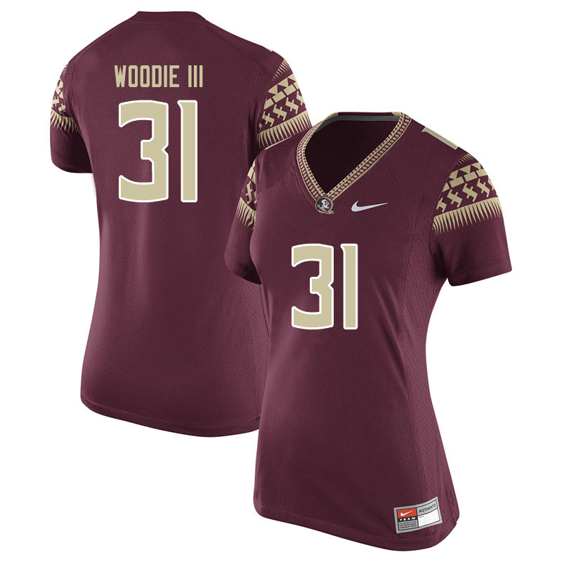 Women #31 Raymond Woodie III Florida State Seminoles College Football Jerseys Sale-Garent