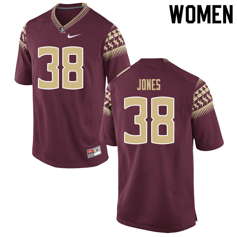 Women #38 Cornel Jones Florida State Seminoles College Football Jerseys Sale-Garnet