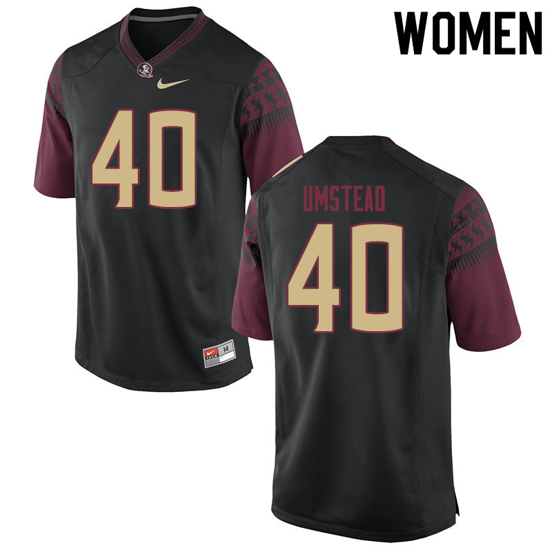 Women #40 Ethan Umstead Florida State Seminoles College Football Jerseys Sale-Black