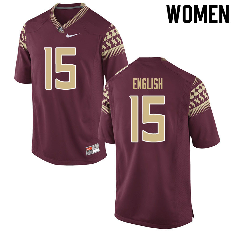 Women #15 Gino English Florida State Seminoles College Football Jerseys Sale-Garnet