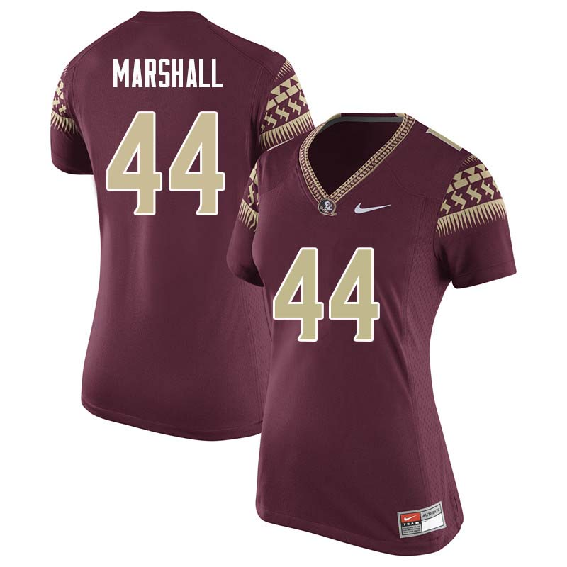 Women #44 Chandler Marshall Florida State Seminoles College Football Jerseys Sale-Garnet
