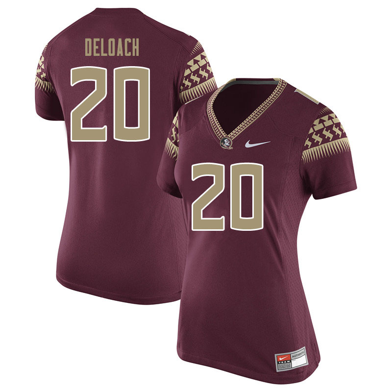 Women #20 Kalen Deloach Florida State Seminoles College Football Jerseys Sale-Garnet