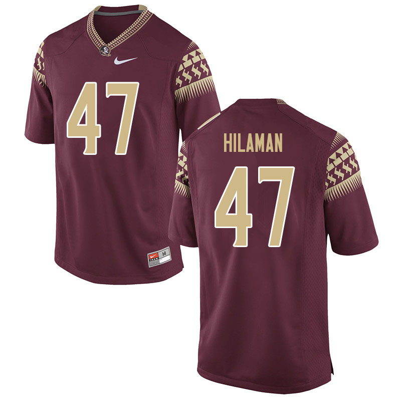 Women #47 Marshall Hilaman Florida State Seminoles College Football Jerseys Sale-Garnet