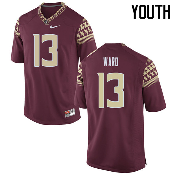 Youth #13 Caleb Ward Florida State Seminoles College Football Jerseys Sale-Garent