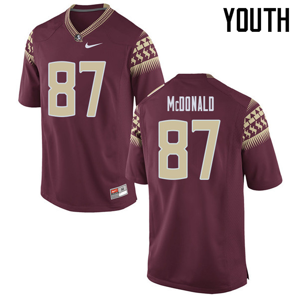 Youth #87 Camm Mcdonald Florida State Seminoles College Football Jerseys Sale-Garent