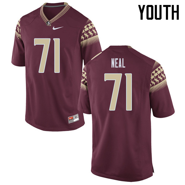 Youth #71 Chaz Neal Florida State Seminoles College Football Jerseys Sale-Garent