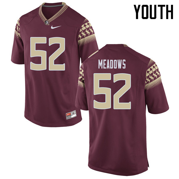 Youth #52 Christian Meadows Florida State Seminoles College Football Jerseys Sale-Garent