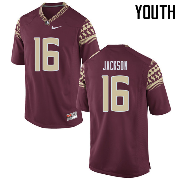 Youth #16 Dontavious Jackson Florida State Seminoles College Football Jerseys Sale-Garent