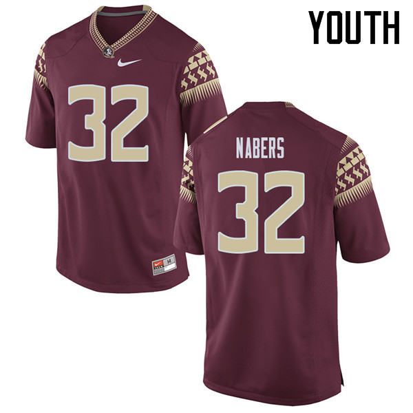 Youth #32 Gabe Nabers Florida State Seminoles College Football Jerseys Sale-Garent