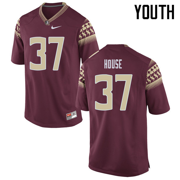 Youth #37 Kameron House Florida State Seminoles College Football Jerseys Sale-Garent