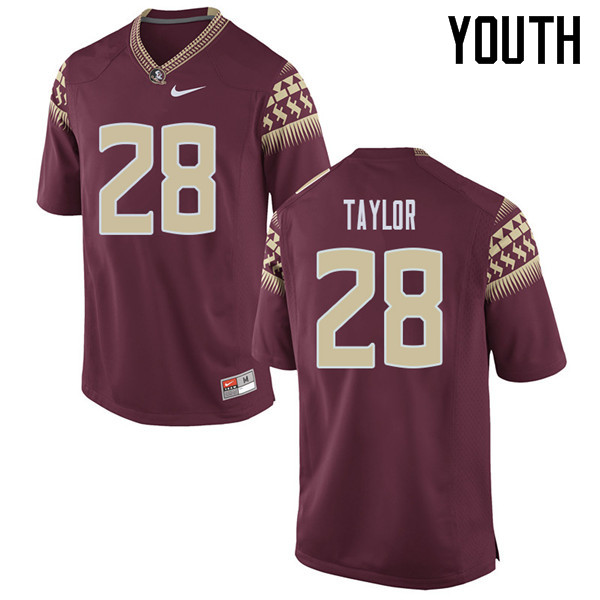 Youth #28 Levonta Taylor Florida State Seminoles College Football Jerseys Sale-Garent