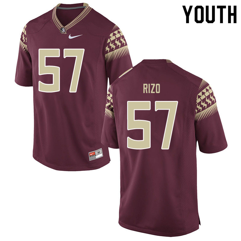 Youth #57 Axel Rizo Florida State Seminoles College Football Jerseys Sale-Garent