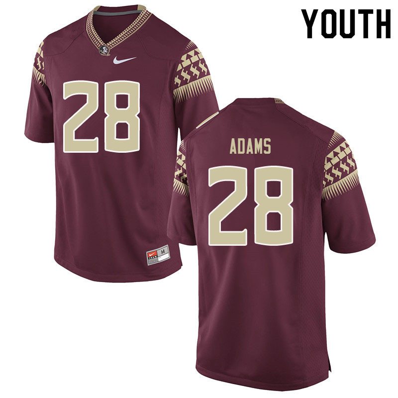 Youth #28 D'Marcus Adams Florida State Seminoles College Football Jerseys Sale-Garent