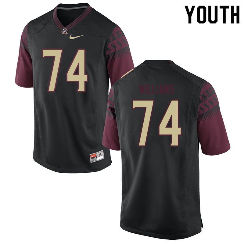 Youth #74 Jay Williams Florida State Seminoles College Football Jerseys Sale-Black