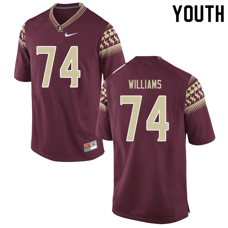 Youth #74 Jay Williams Florida State Seminoles College Football Jerseys Sale-Garent