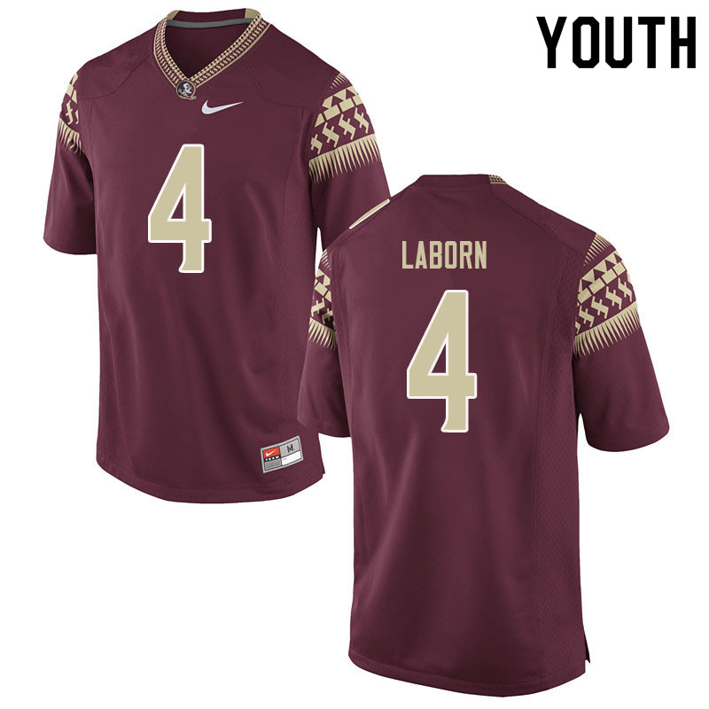 Youth #4 Khalan Laborn Florida State Seminoles College Football Jerseys Sale-Garent