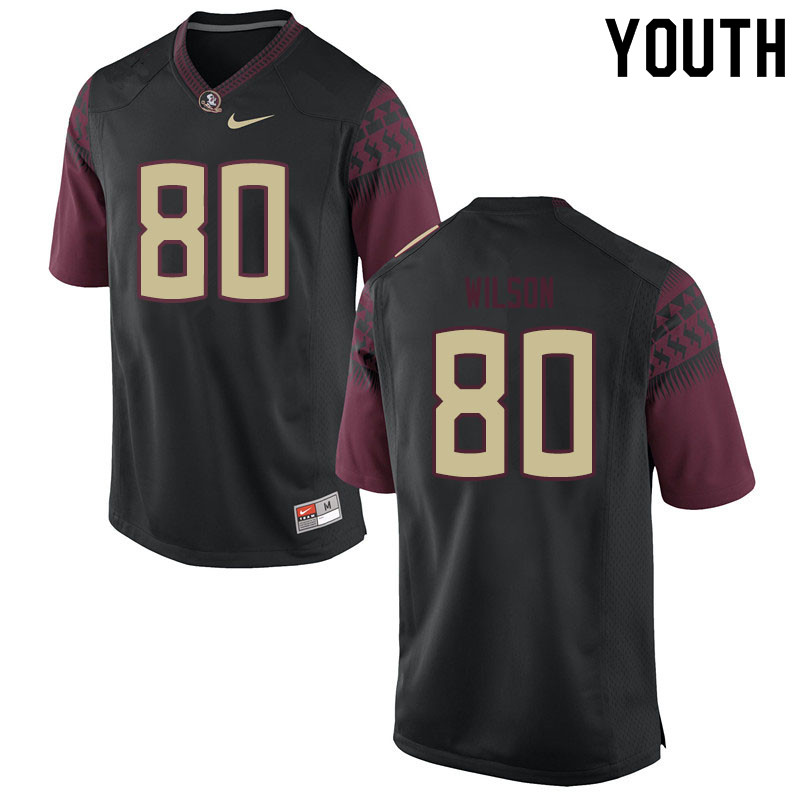 Youth #80 Ontaria Wilson Florida State Seminoles College Football Jerseys Sale-Black