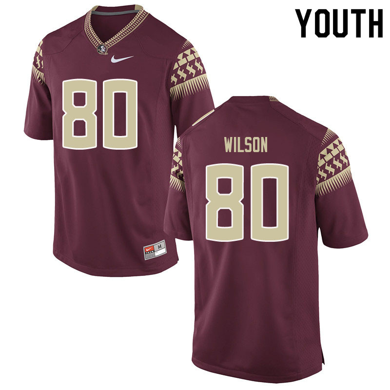 Youth #80 Ontaria Wilson Florida State Seminoles College Football Jerseys Sale-Garent