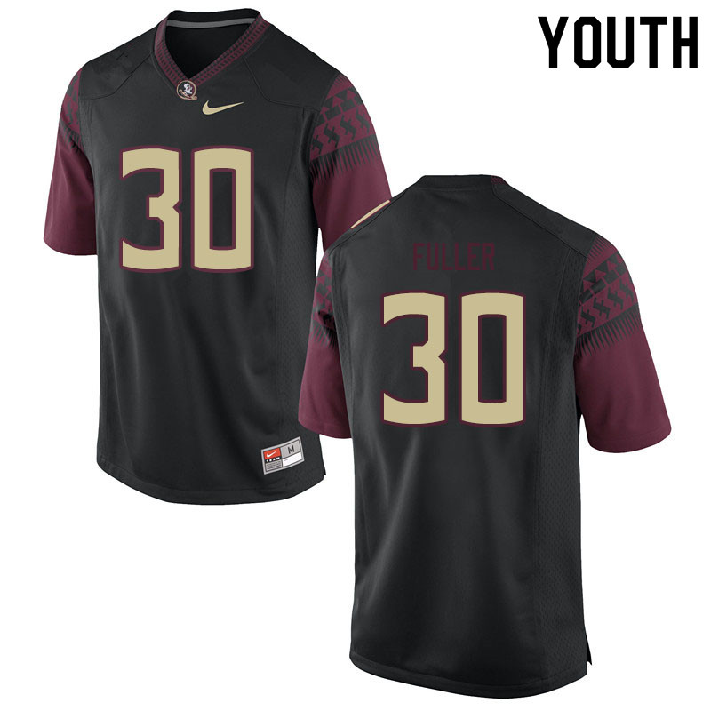 Youth #30 Quashon Fuller Florida State Seminoles College Football Jerseys Sale-Black