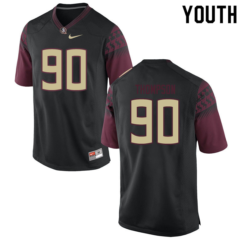 Youth #90 Tru Thompson Florida State Seminoles College Football Jerseys Sale-Black