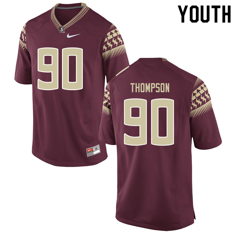 Youth #90 Tru Thompson Florida State Seminoles College Football Jerseys Sale-Garent