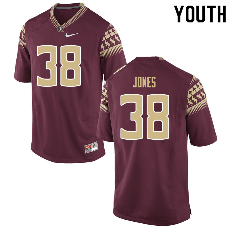 Youth #38 Cornel Jones Florida State Seminoles College Football Jerseys Sale-Garnet