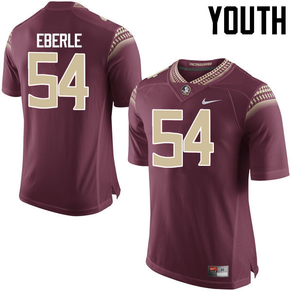 Youth #54 Alec Eberle Florida State Seminoles College Football Jerseys-Garnet