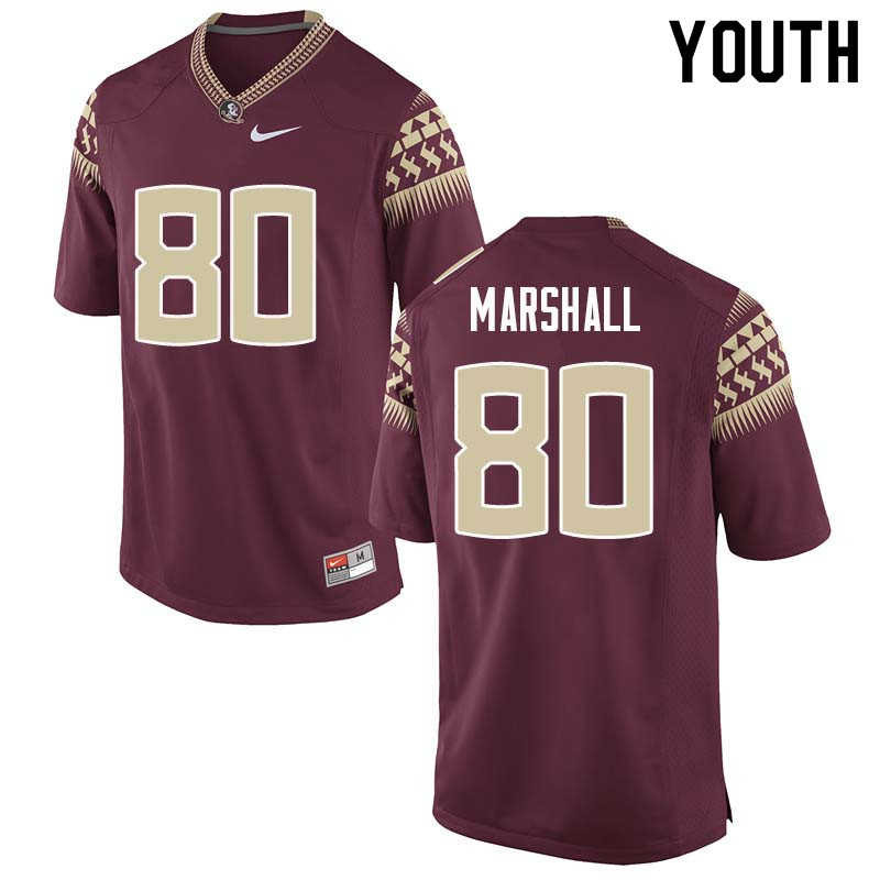 Youth #80 Alex Marshall Florida State Seminoles College Football Jerseys Sale-Garnet