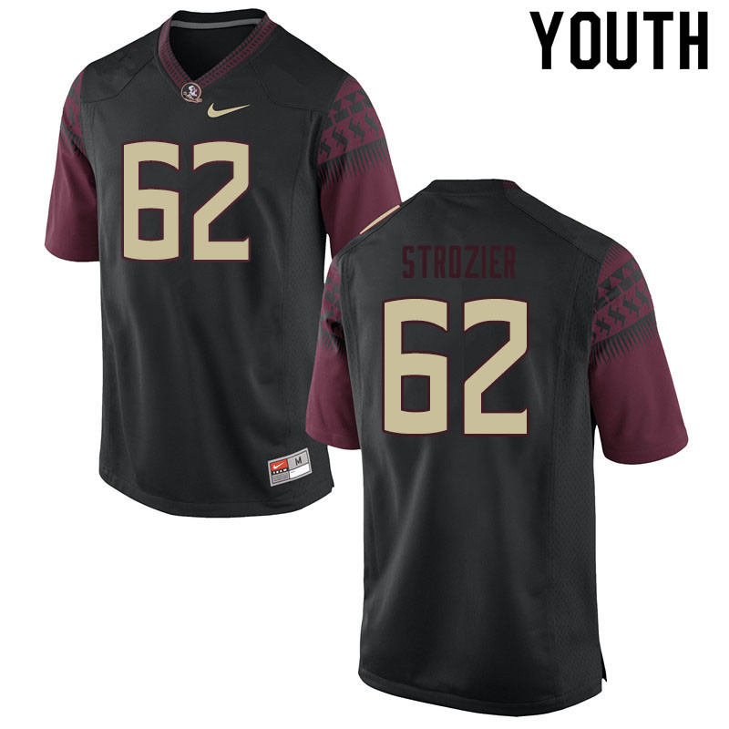 Youth #62 Alexander Strozier Florida State Seminoles College Football Jerseys Sale-Black