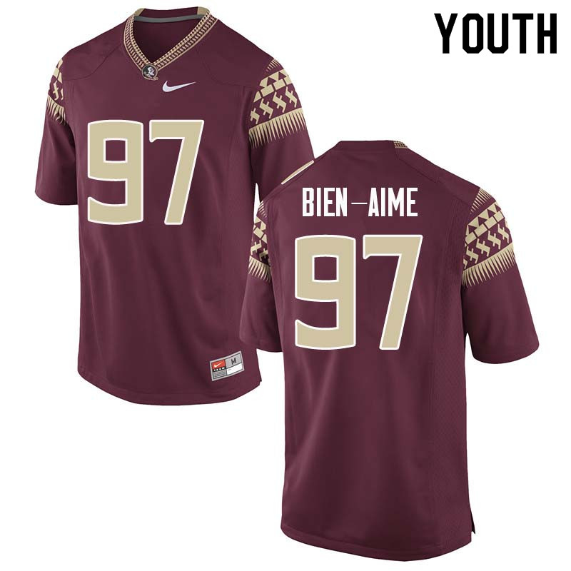 Youth #97 Andy Bien-Aime Florida State Seminoles College Football Jerseys Sale-Garnet