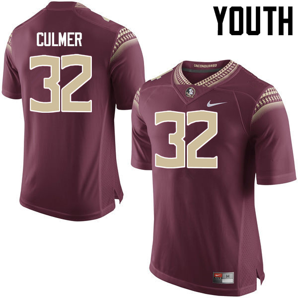 Youth #32 Array Culmer Florida State Seminoles College Football Jerseys-Garnet