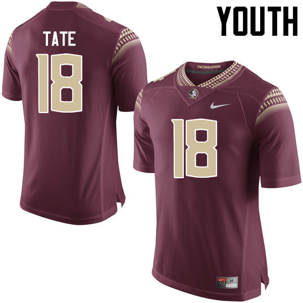 Youth #18 Auden Tate Florida State Seminoles College Football Jerseys-Garnet