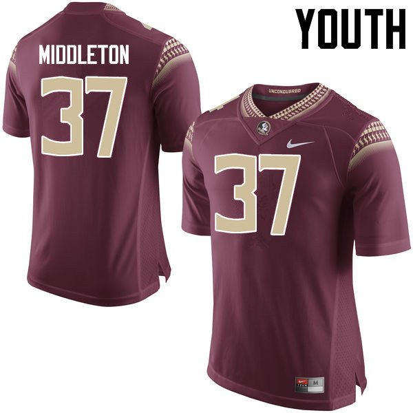 Youth #37 Blaik Middleton Florida State Seminoles College Football Jerseys-Garnet