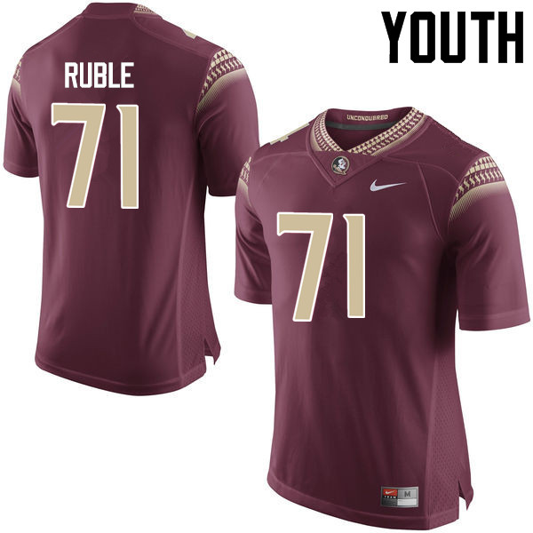 Youth #71 Brock Ruble Florida State Seminoles College Football Jerseys-Garnet