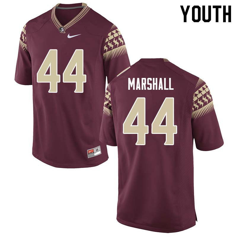 Youth #44 Chandler Marshall Florida State Seminoles College Football Jerseys Sale-Garnet